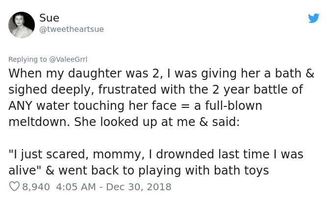 daughter said she drowned last time she was alive tweet
