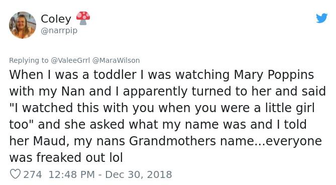 toddler said that she was grandma's mom