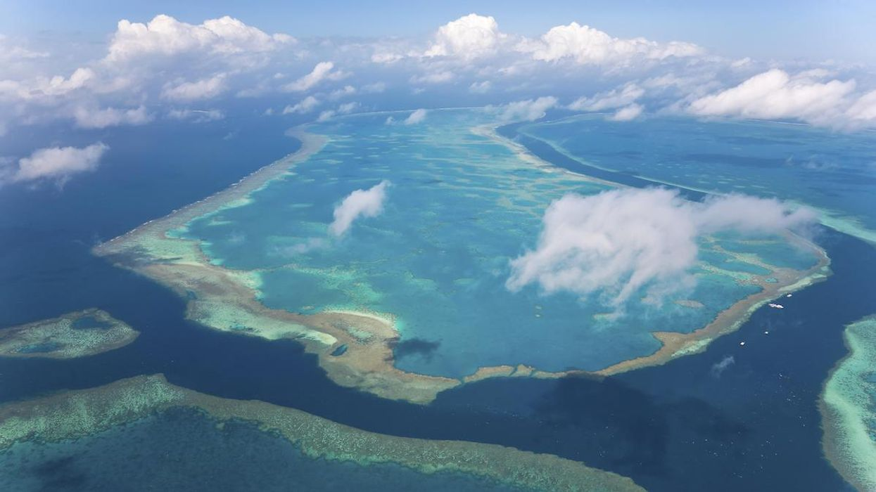 Clouds over the Great Barrier Reef.