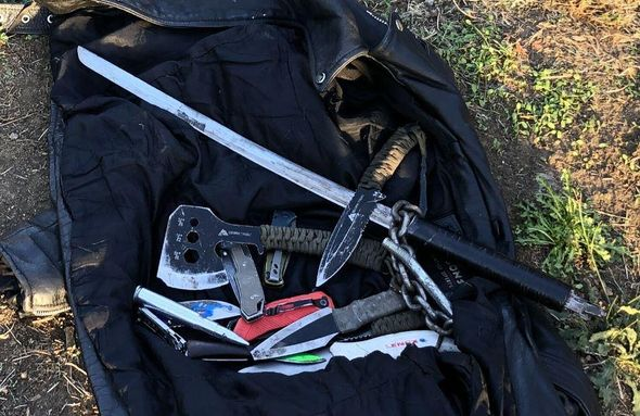 Home invader in Portland charged police with a sword before hurling an axe and several knives at them, authorities say