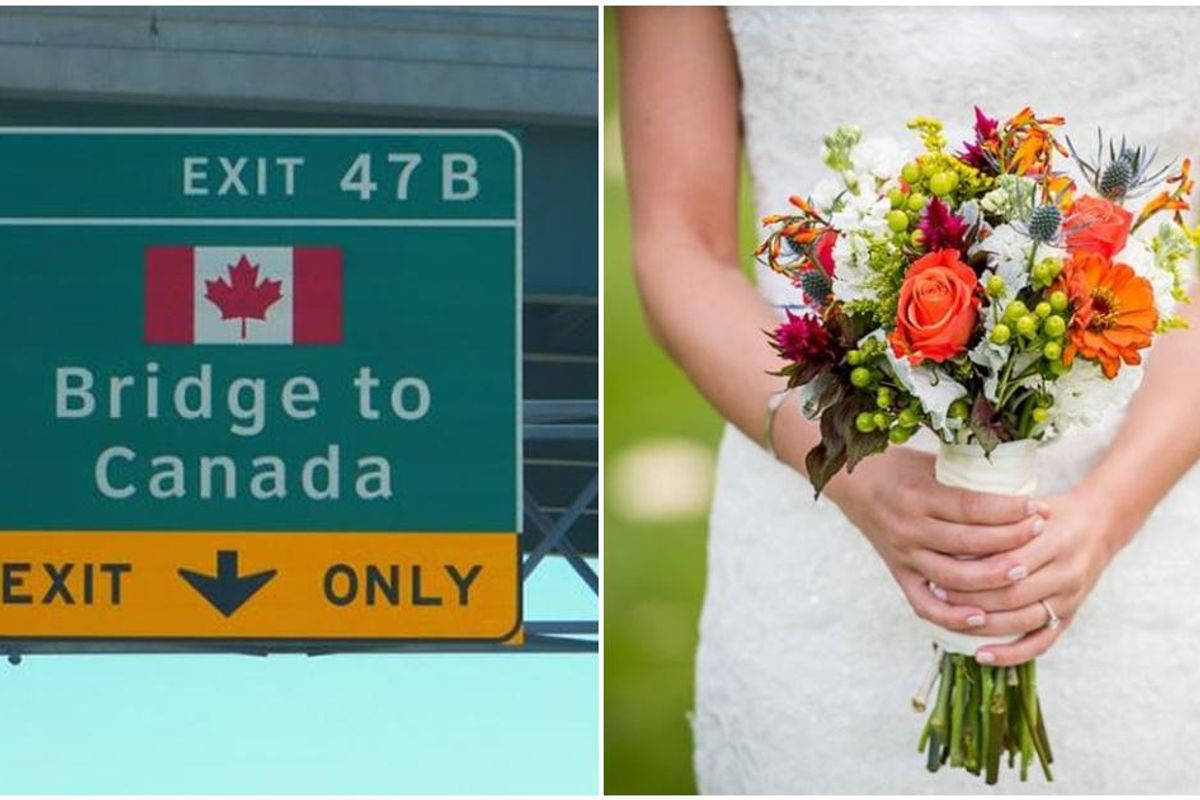 COVID rules prevented her Canadian family from attending her wedding—she had it on the border