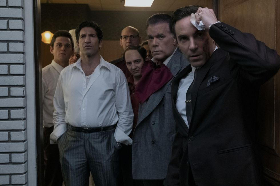 """A movie still from the film """"The Many Saints of Newark,"""" starring Alessandro Nivola, Jon Bernthal, Ray Liotta and more."""