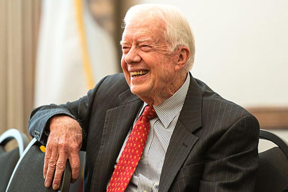 Jimmy Carter is staying in for his 97th birthday. But here's how you can send him a message.