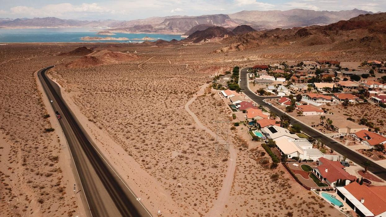 Homes in Boulder City, Nevada near Lake Mead on the Colorado River.