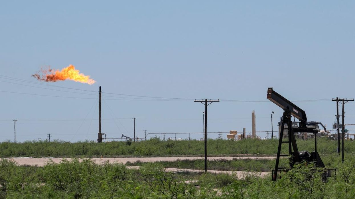 Oil and gas infrastructure in the Permian Basin.