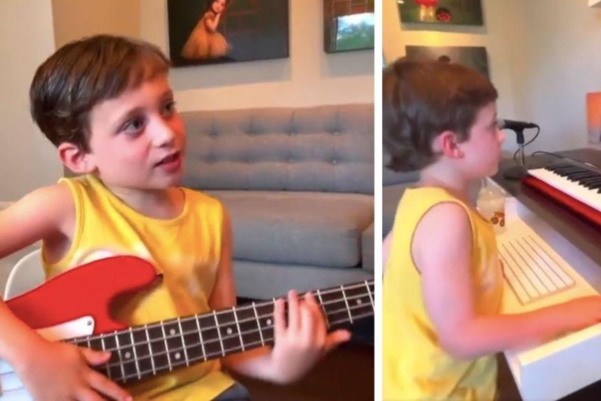 Holy moly, you have to see this 5-year-old mixing his own music