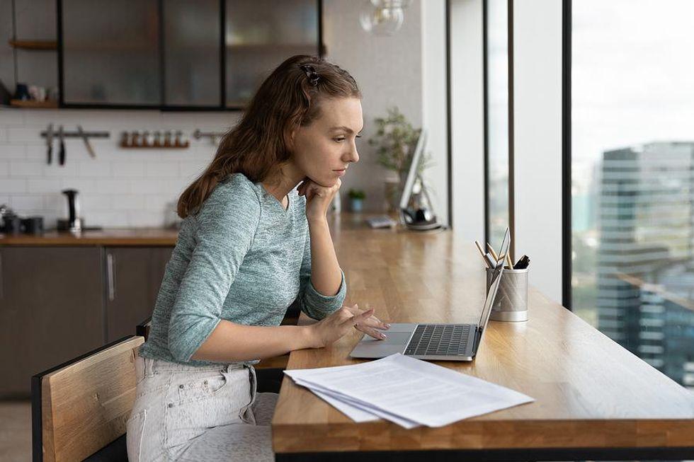 Job seekers updates her resume