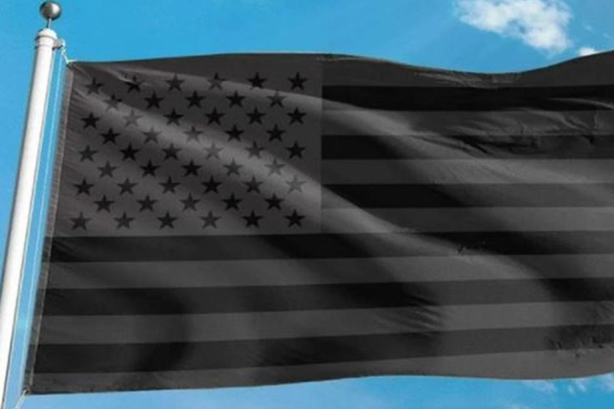 This black American flag has a disturbing message and has been popping up across the U.S.