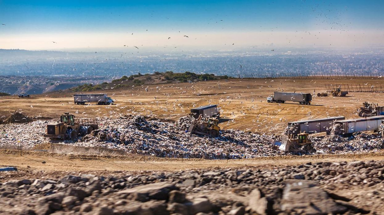 A solid waste landfill in California.