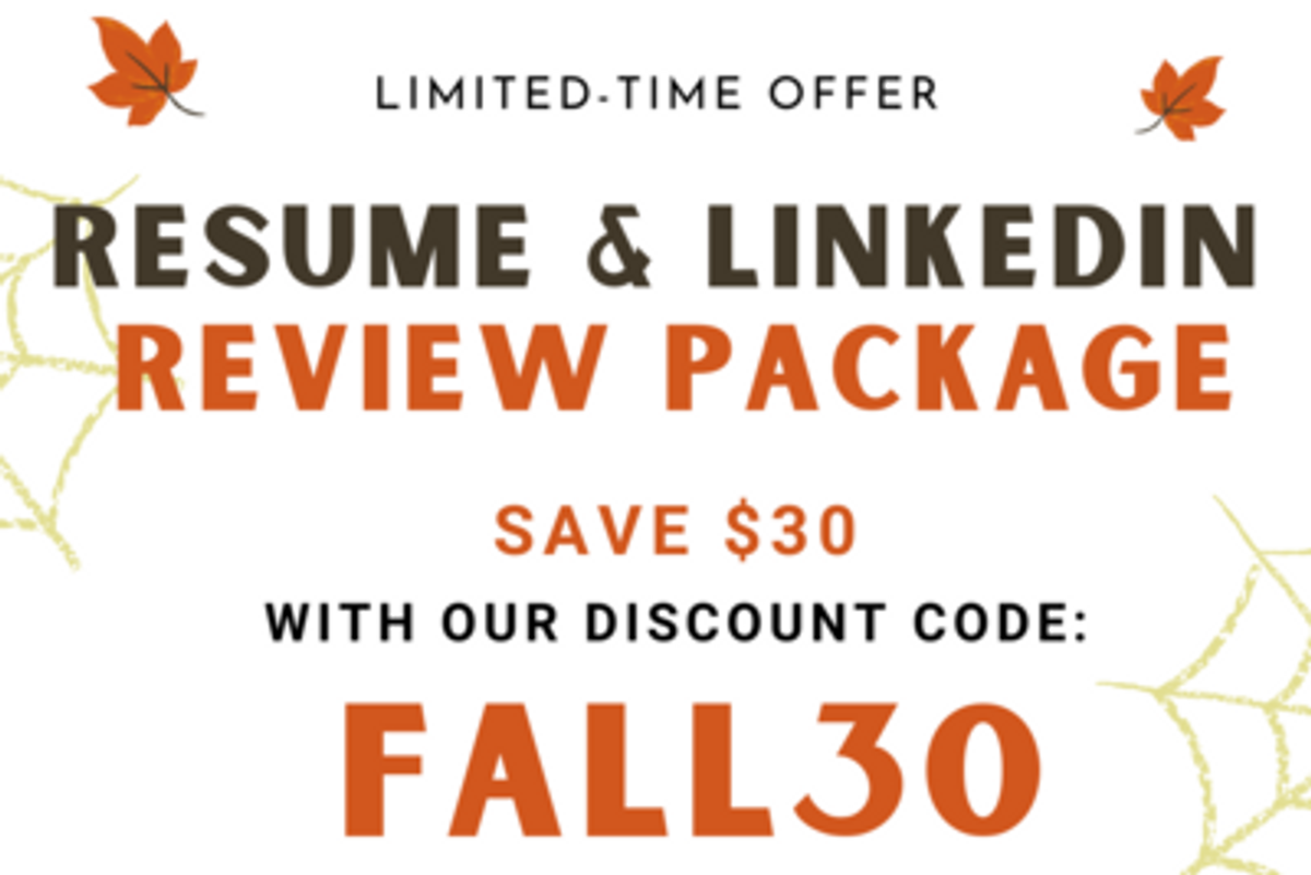 Work It Daily's discount on their resume and LinkedIn review package