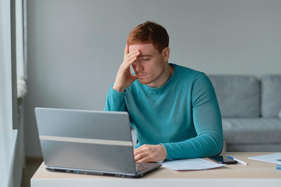 Man frustrated that his resume isn't working