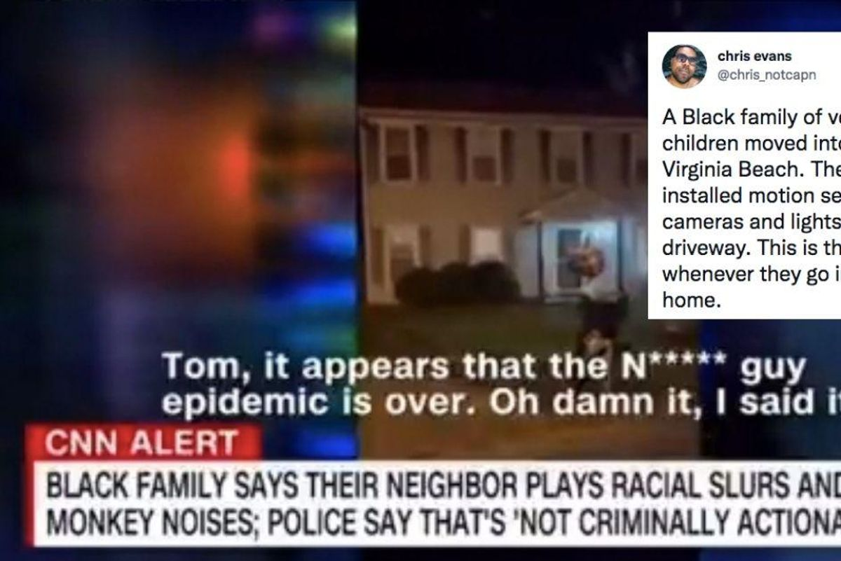 A Black family in Virginia is being subjected to a bizarre, racist assault every time they step outside