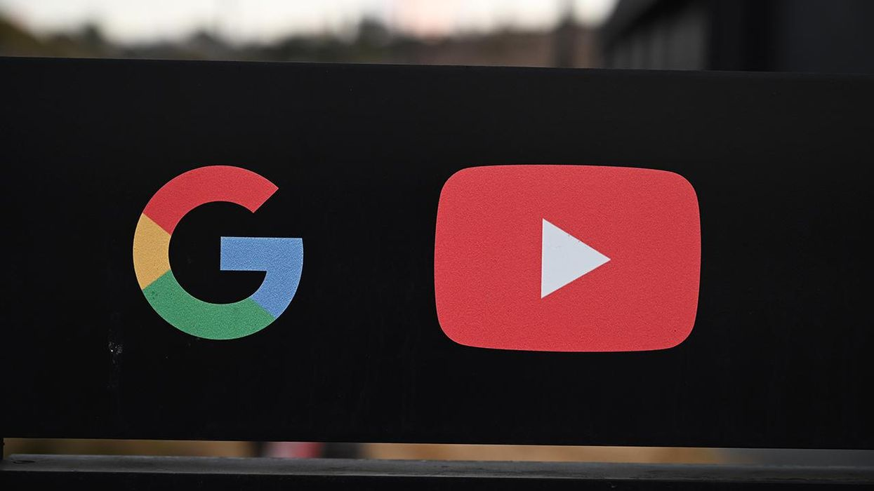 Google and YouTube logos at entrance to Google offices