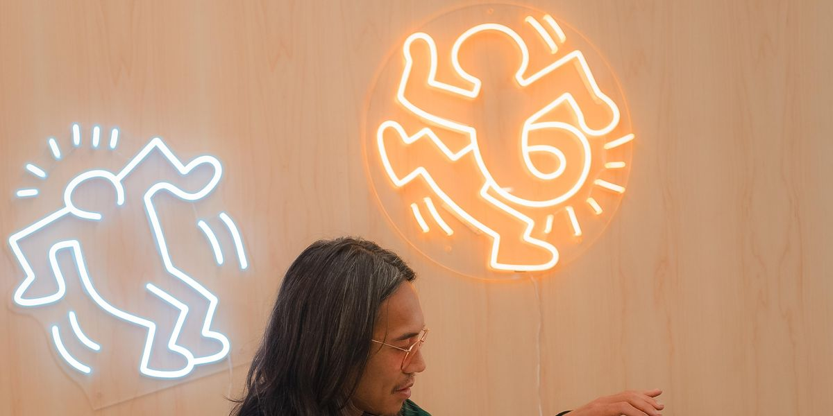 Keith Haring's Art Gets a Neon Twist