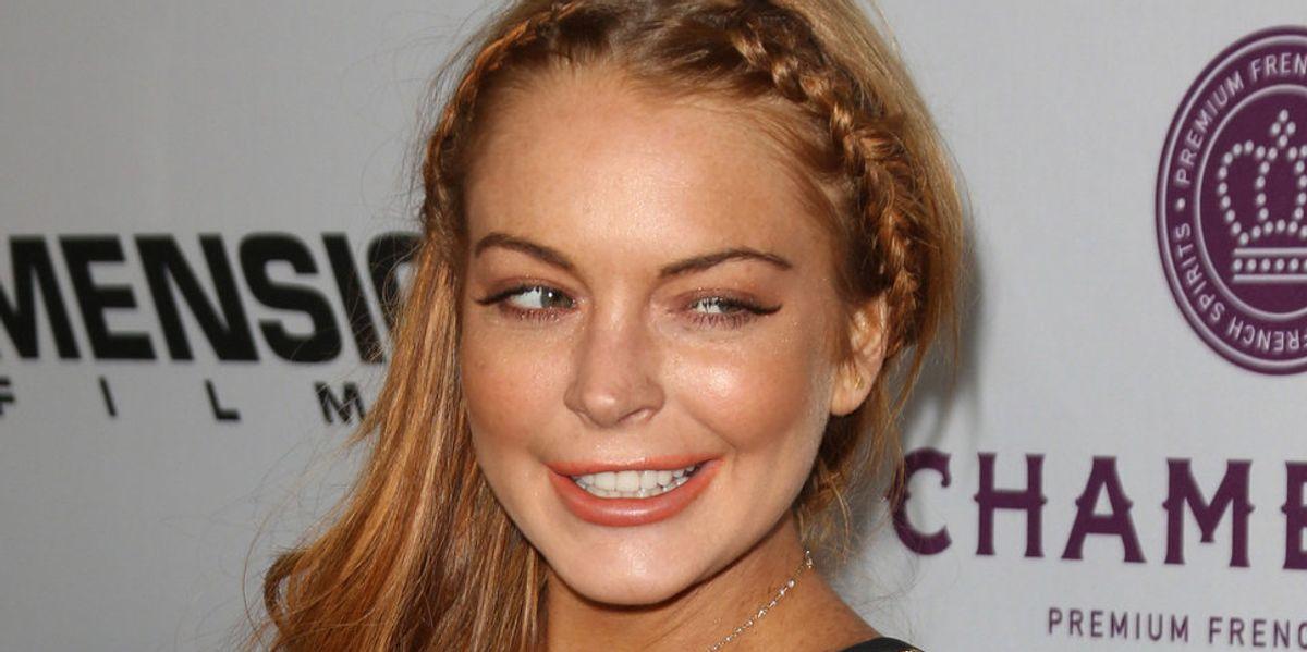 Lindsay Lohan Dressed Up Like Sharon Tate For Instagram...On Charles Manson's Birthday