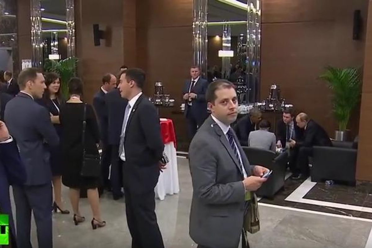 This Guy Awkwardly Wandering Around The G20 Summit Is All of Us