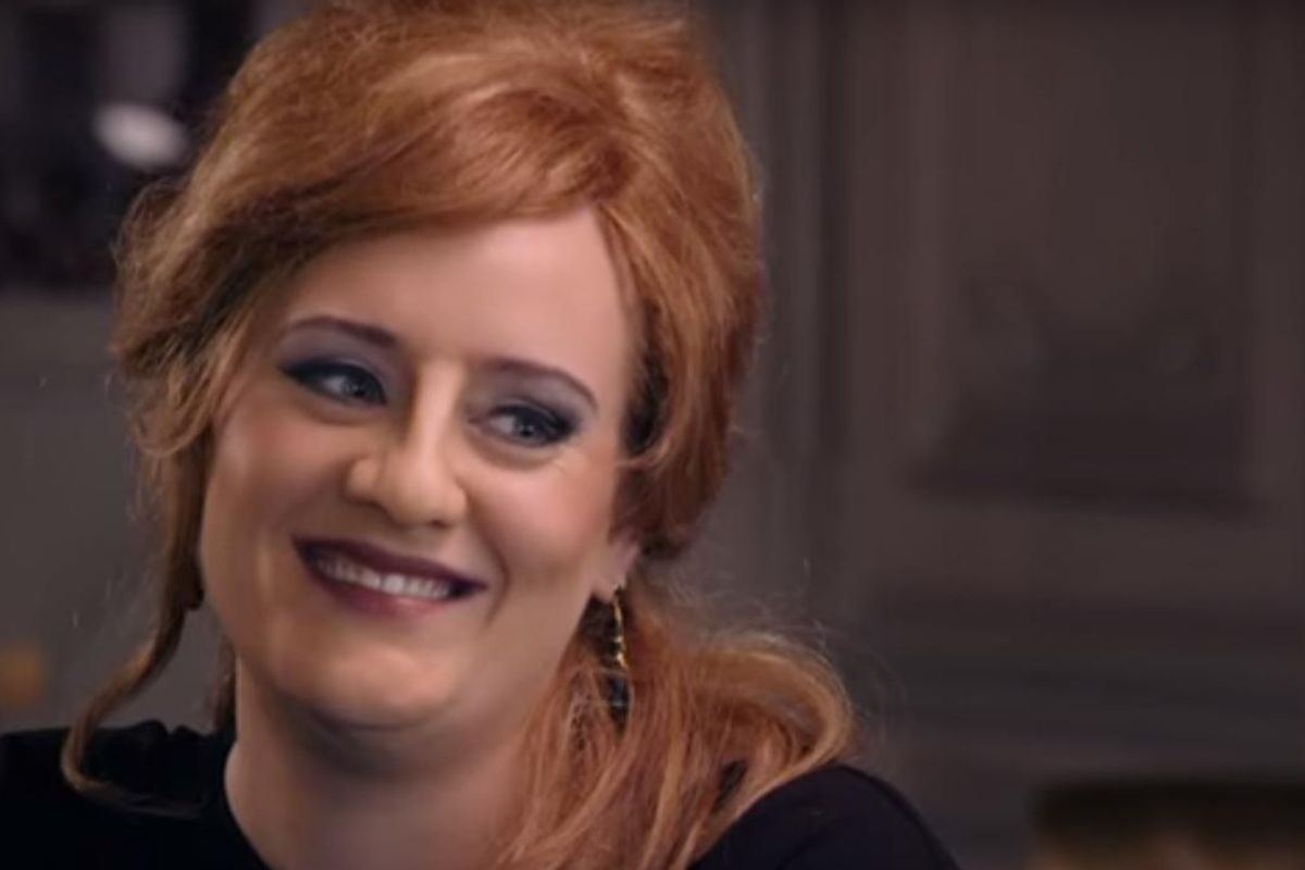 Watch Adele Impersonate...Herself.
