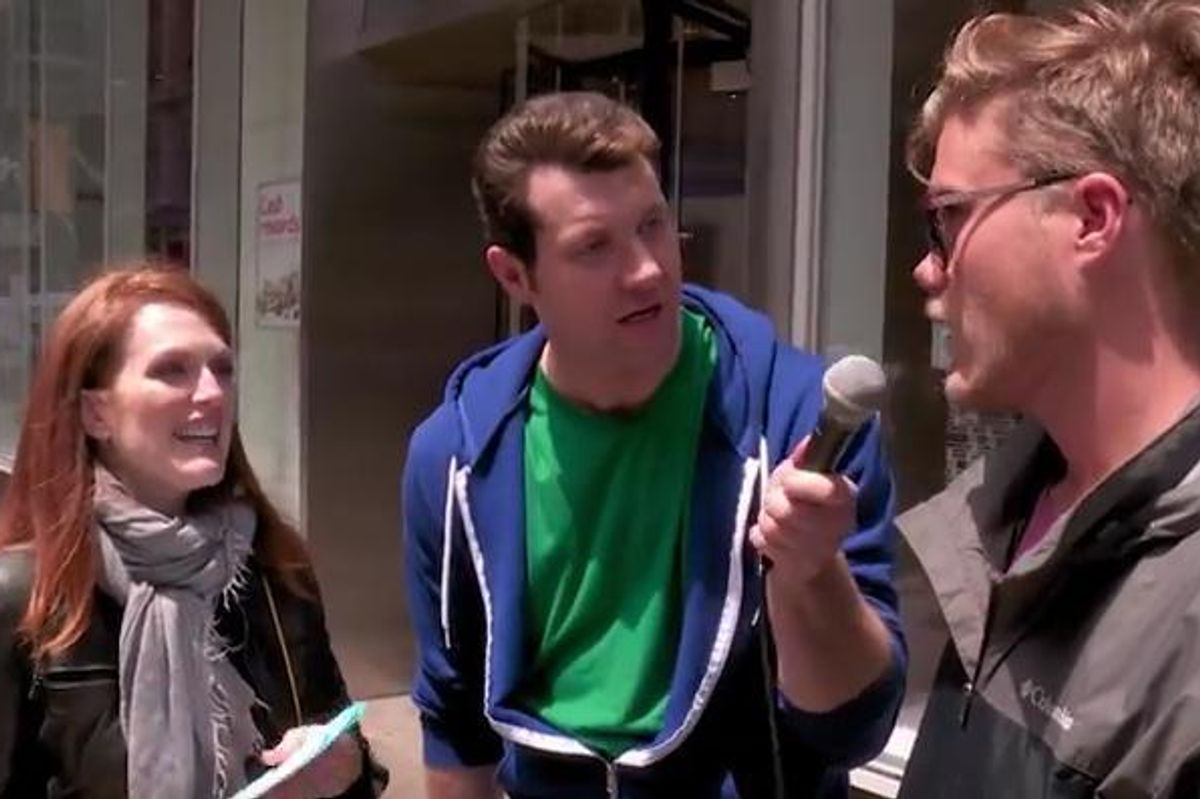 """Watch Julianne Moore Act Out Her Best Film Monologues On """"Billy On the Street"""""""