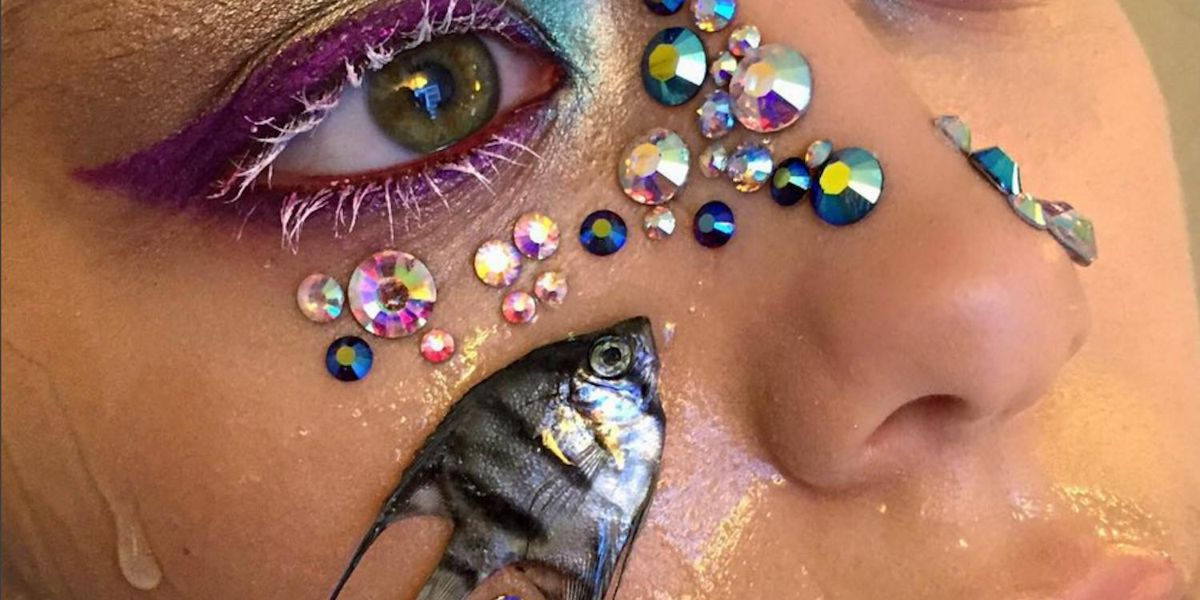 Make-Up Artist Faces Scrutiny For Using Dead Fish As Accessories