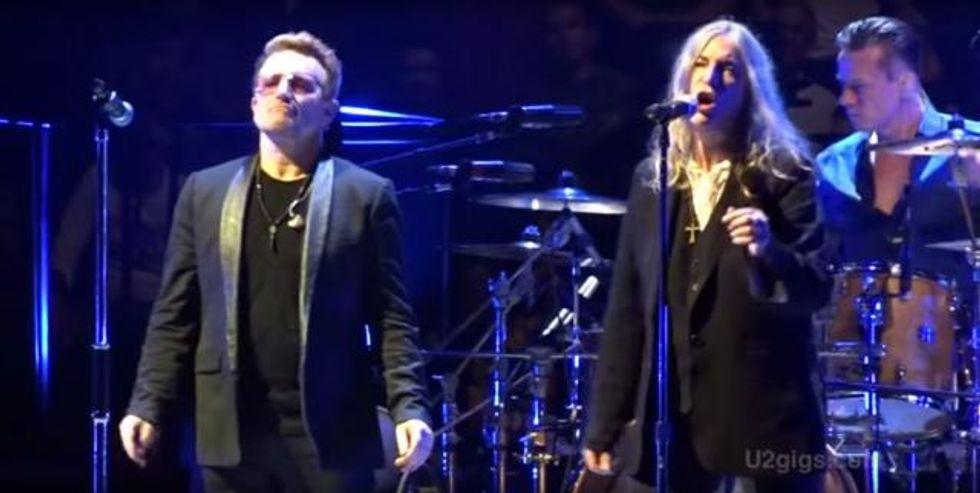 Watch Patti Smith Perform With U2 in Paris