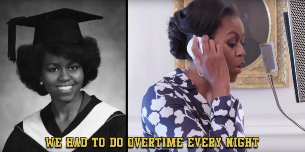 Watch Michelle Obama Rap About The Importance of A College Degree