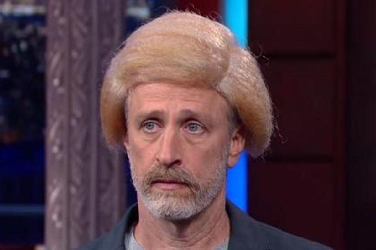 ICYMI: Jon Stewart Made a Cameo On Colbert's Late Show