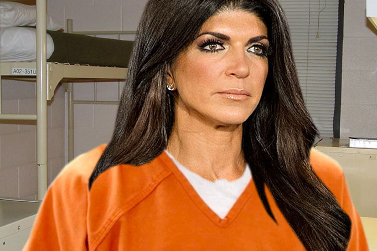 THE LEWK of 2015: Teresa Giudice Public Restroom, Post Prison-Release Makeover