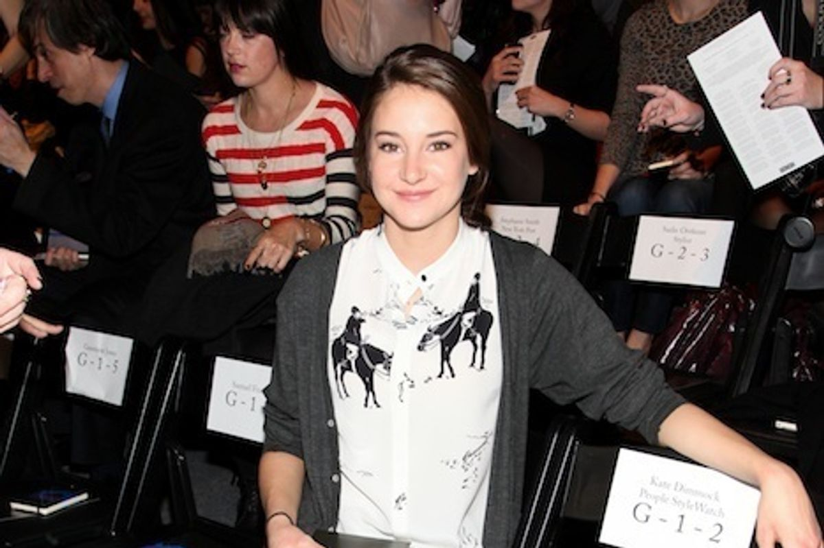 Shailene Woodley Sits Pretty at Honor, Her First Ever Fashion Show