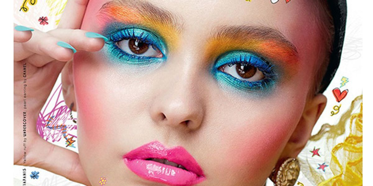 """Lily-Rose Depp Is Rocking Clowncore Makeup On The Cover Of """"LOVE Magazine"""""""