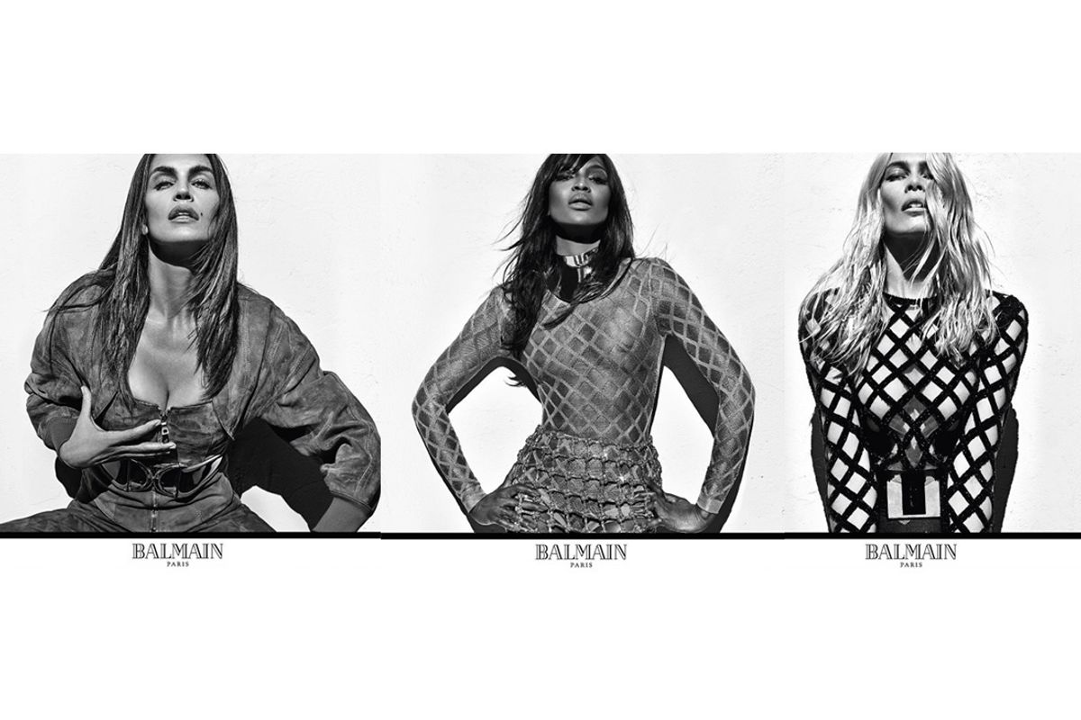 Naomi Campbell, Cindy Crawford and Claudia Schiffer Reunite To Join The Balmain Army