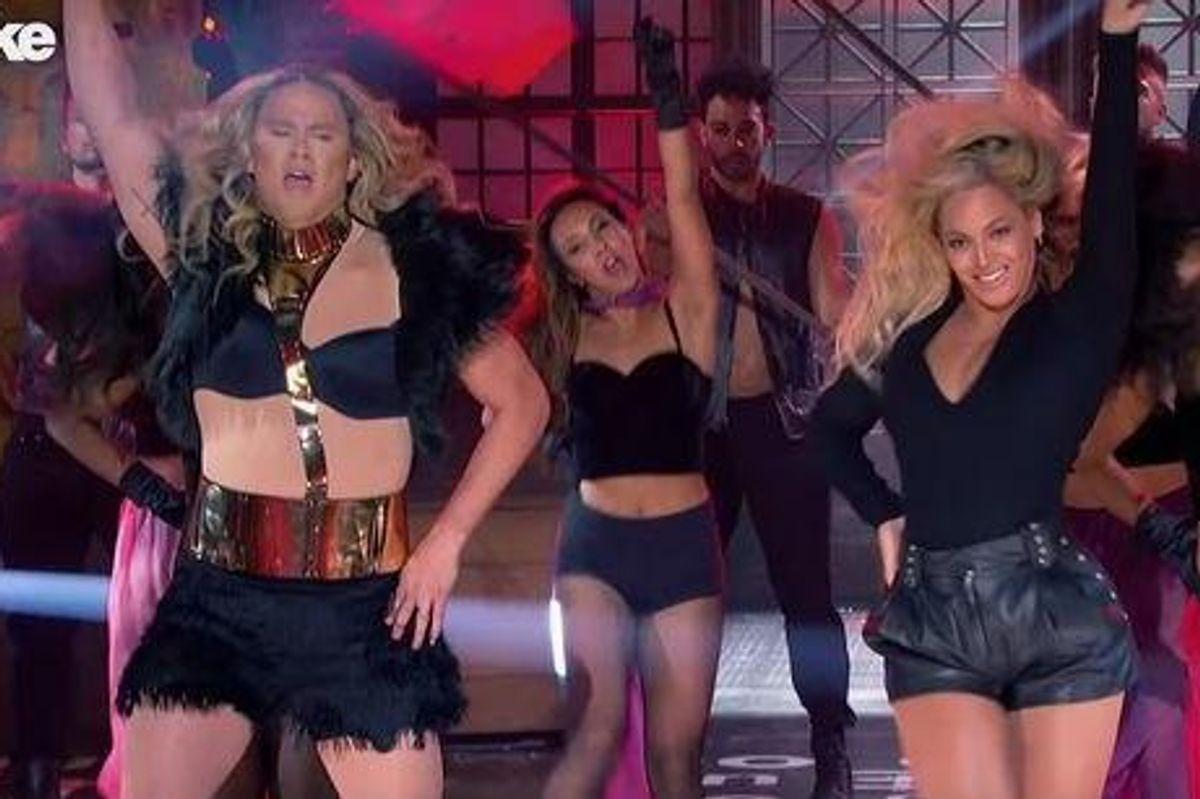 Watch Beyoncé Crash Channing Tatum's 'Lip Sync Battle'