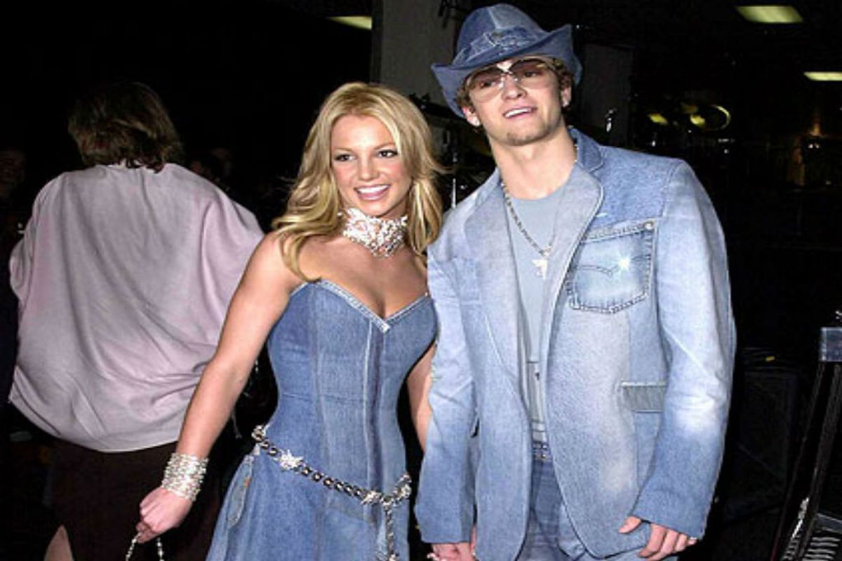 Never Forget Britney Spears Justin Timberlake S Matching Denim Paper