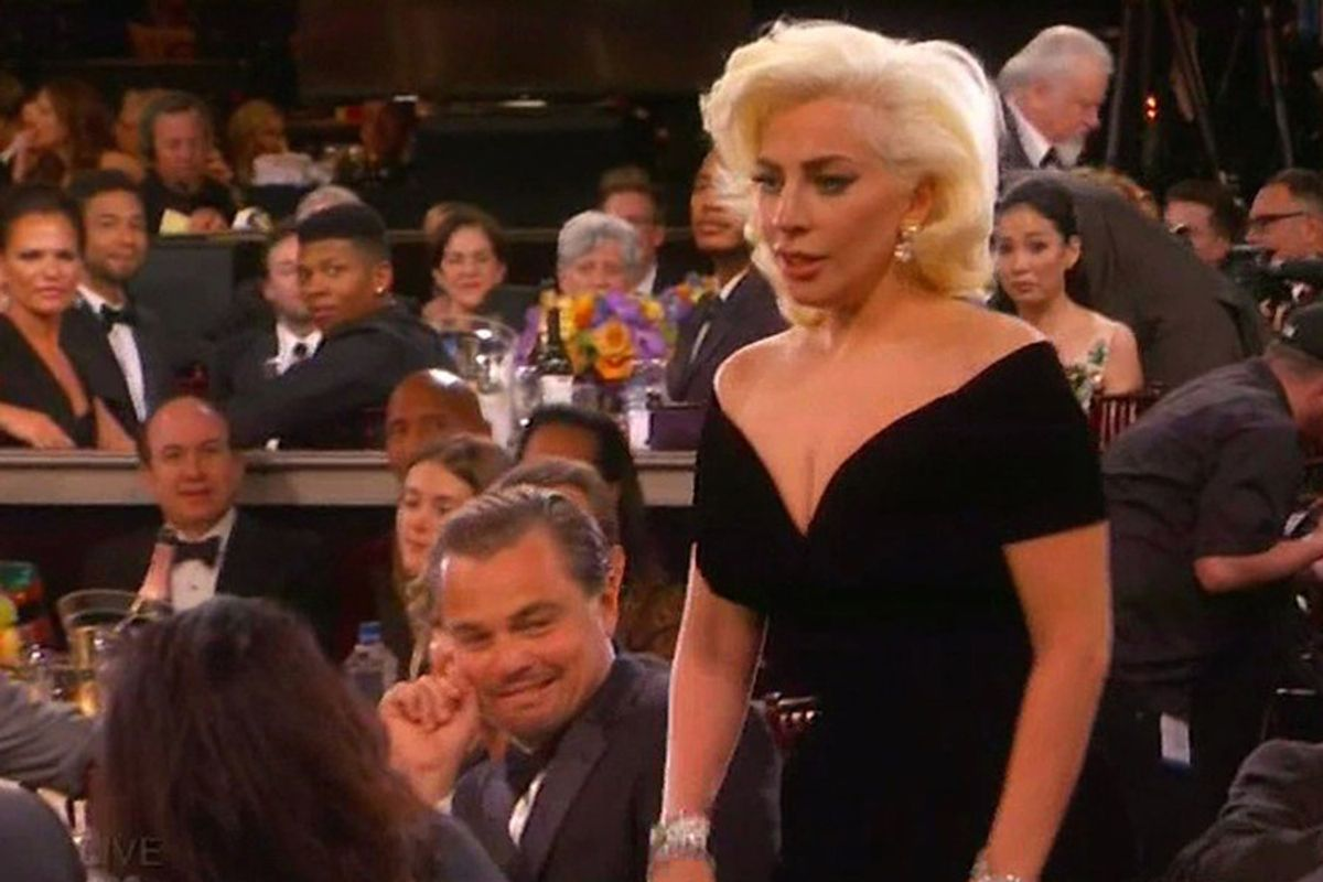"Leonardo DiCaprio's Lady Gaga Reaction Cringe ""Explained"""