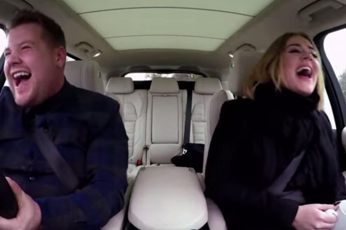 Watch Adele's Glorious Carpool With Late Late Show's James Corden