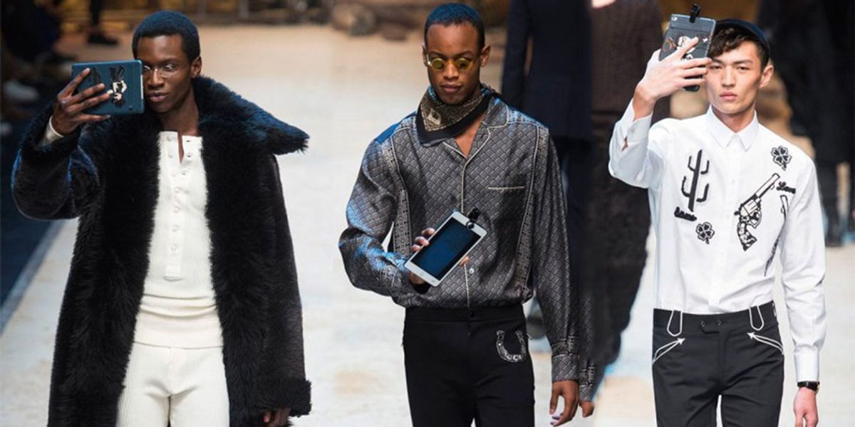 Dolce & Gabbana's Latest Runway Show Features Selfie-Obssessed Models