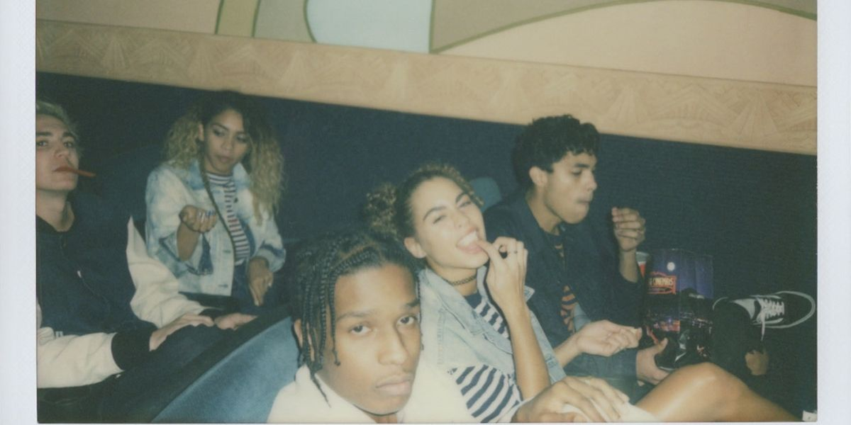 A$AP Rocky Teams Up With GUESS Originals For A Collaboration And Polaroid Editorial