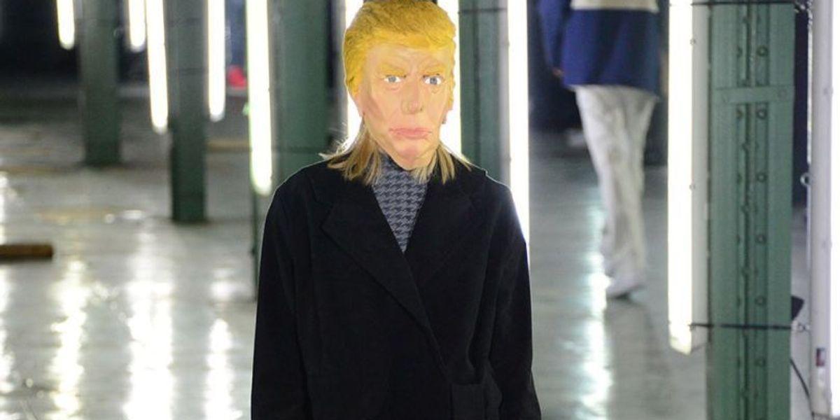 Donald Trump Masks: The Accessory Du Jour At Paris Men's Fashion Week