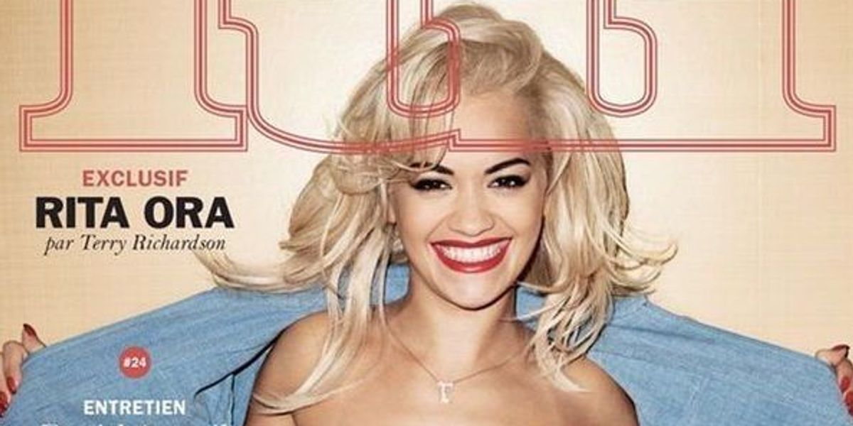 Rita Ora Posed Topless For Terry Richardson On Cover Of Lui Magazine