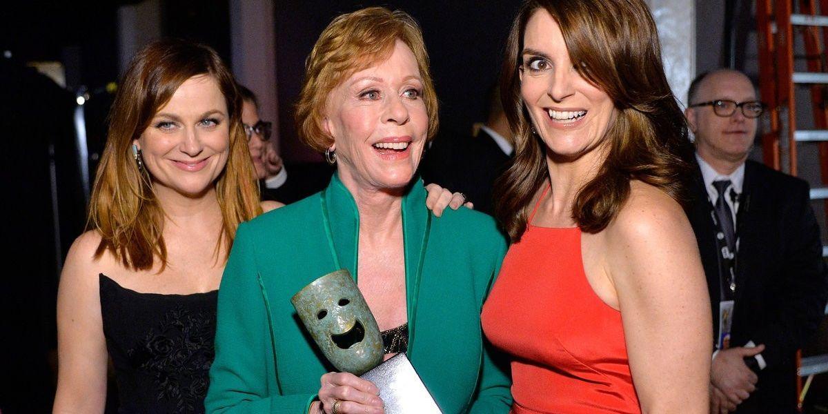 Watch Tina Fey and Amy Poehler Make Fun of Leonardo DiCaprio During Carol Burnett Tribute at SAG Awards