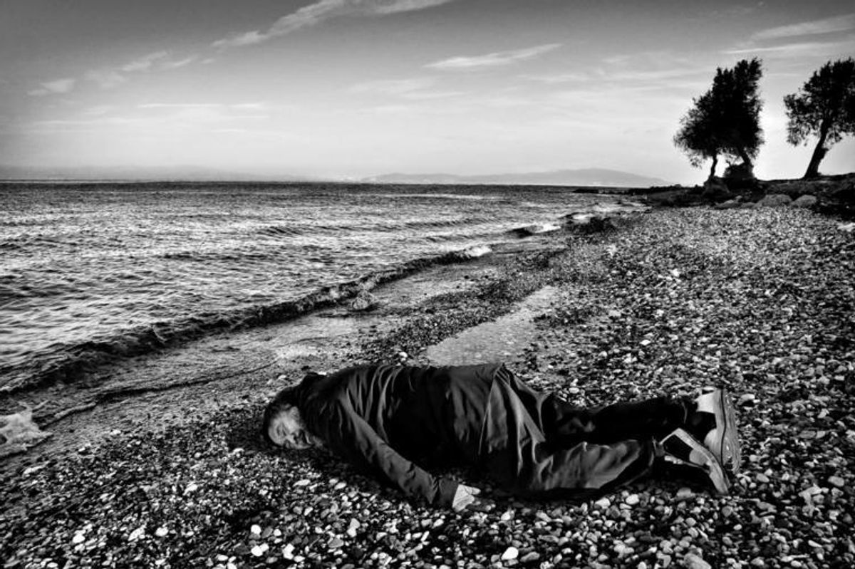 Artist Ai Weiwei Poses As Drowned Syrian Refugee Toddler
