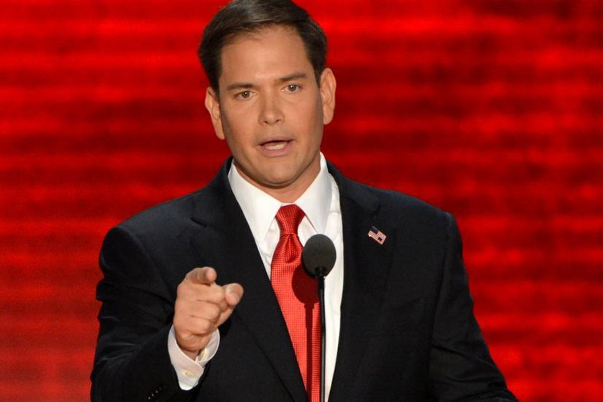 Here Is A Photo of Marco Rubio Dancing In A Chippendales-Inspired Dance Troupe