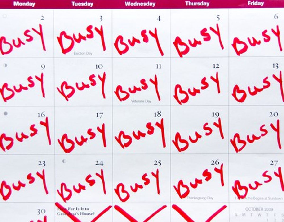 Why A Busy Schedule Is Better