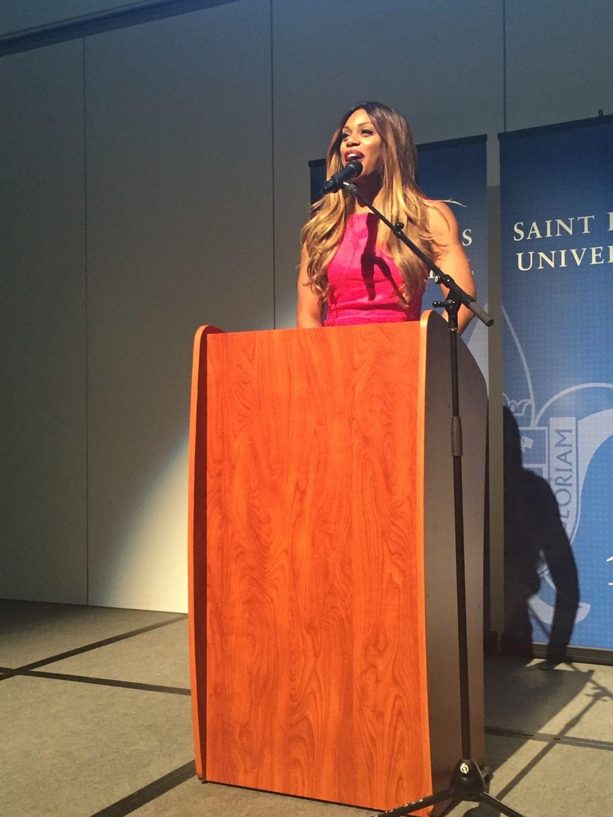 Laverne Cox Tells SLU Students Her Story