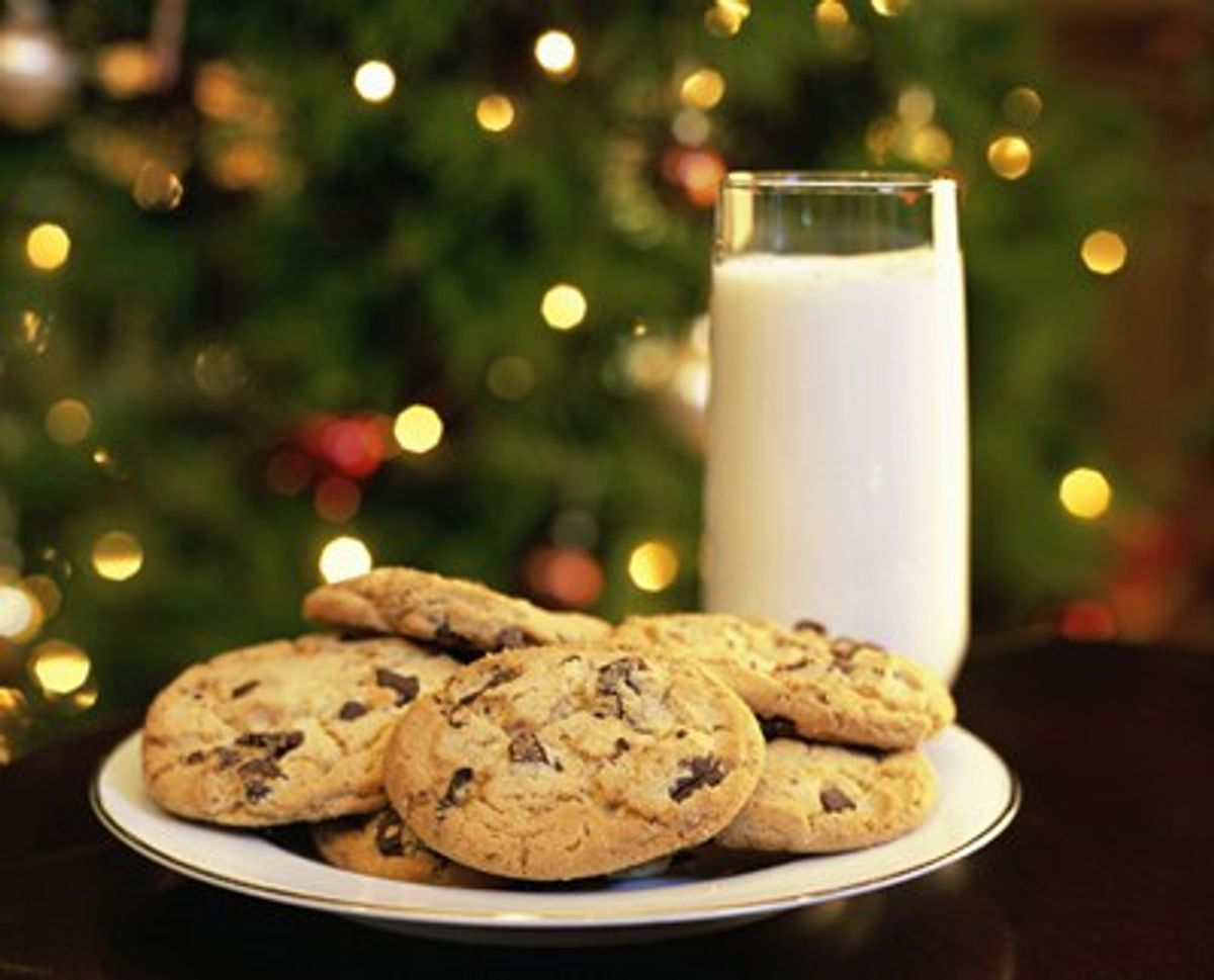"""A Short, Interesting History Of The """"Milk And Cookies"""" Tradition"""