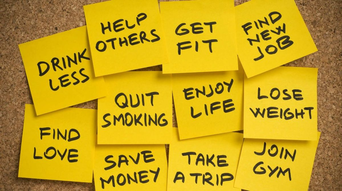 The 5 Most Commonly Broken New Year's Resolutions