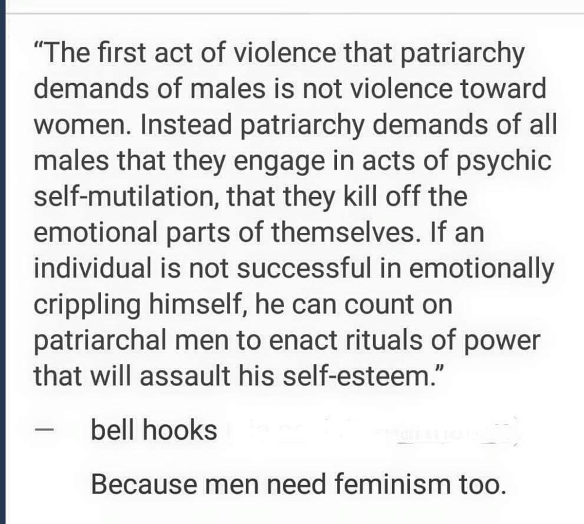 """This Quote Perfectly Explains Why """"Men Need Feminism, Too"""""""