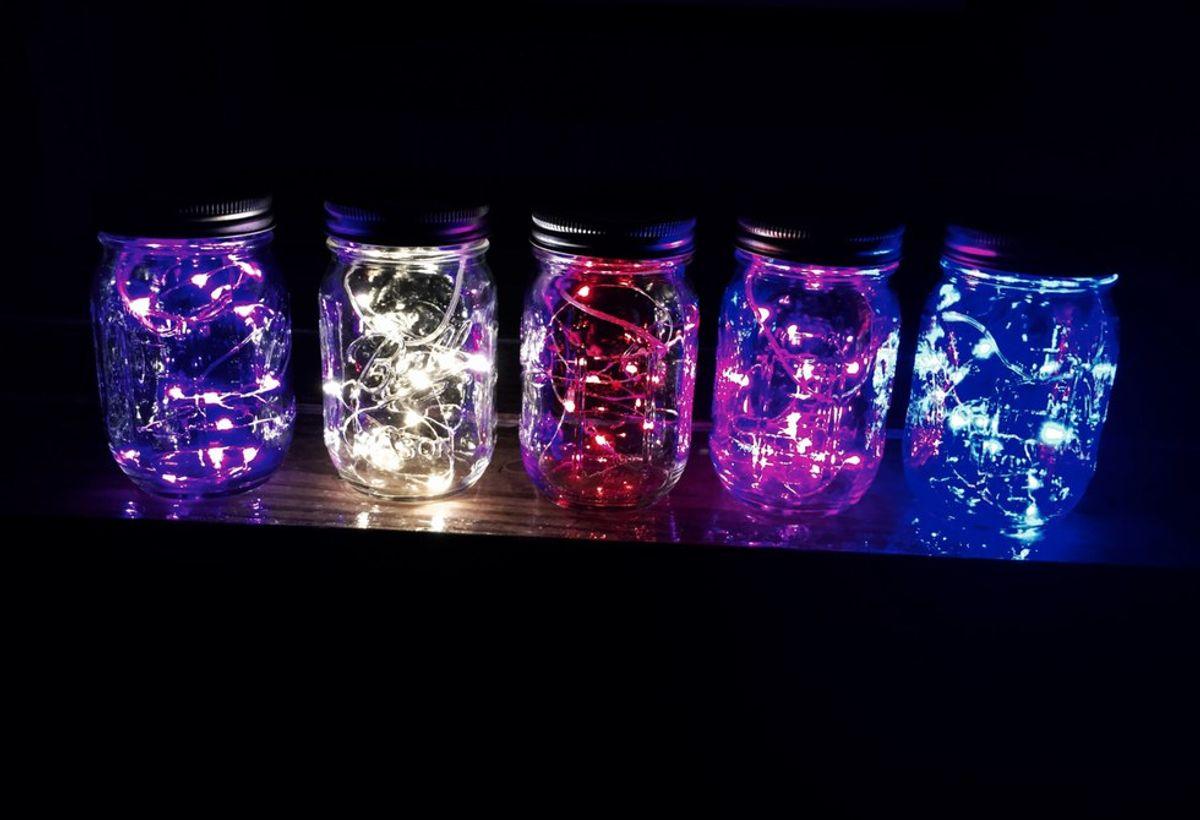 DIY Fairy Lights Mason Jar