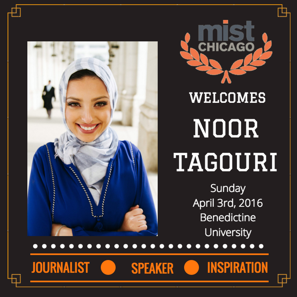 Get MISTified with Noor Tagouri at Benedictine University