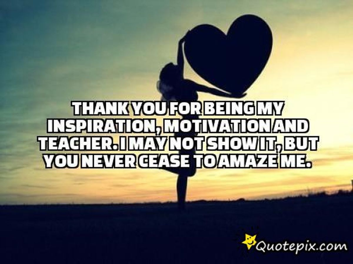 An Open Letter To My Inspiration