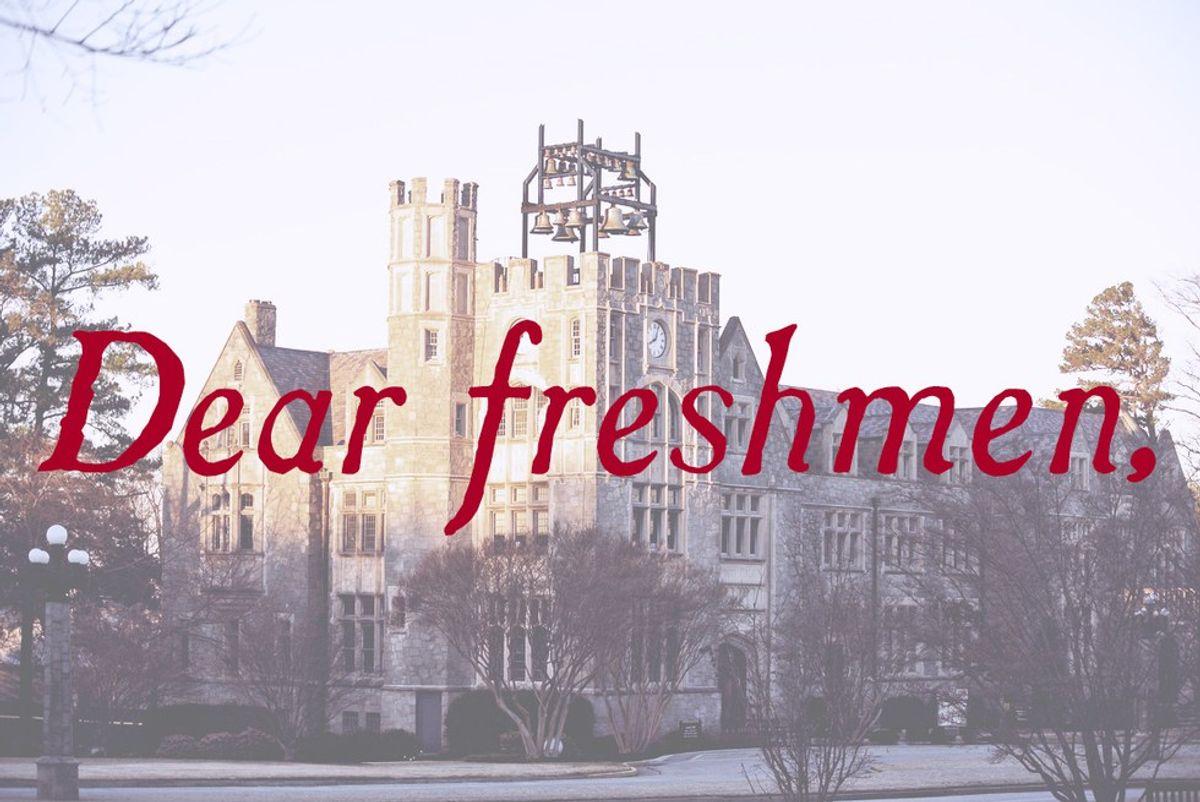Open Letter To Incoming Freshmen